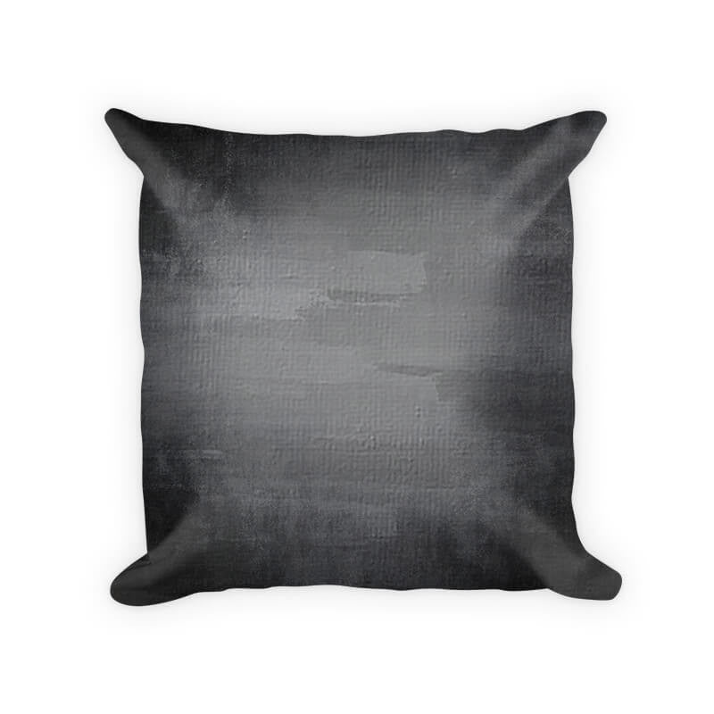 Gray Grunge Cotton Poly Throw Pillow - WallLillies