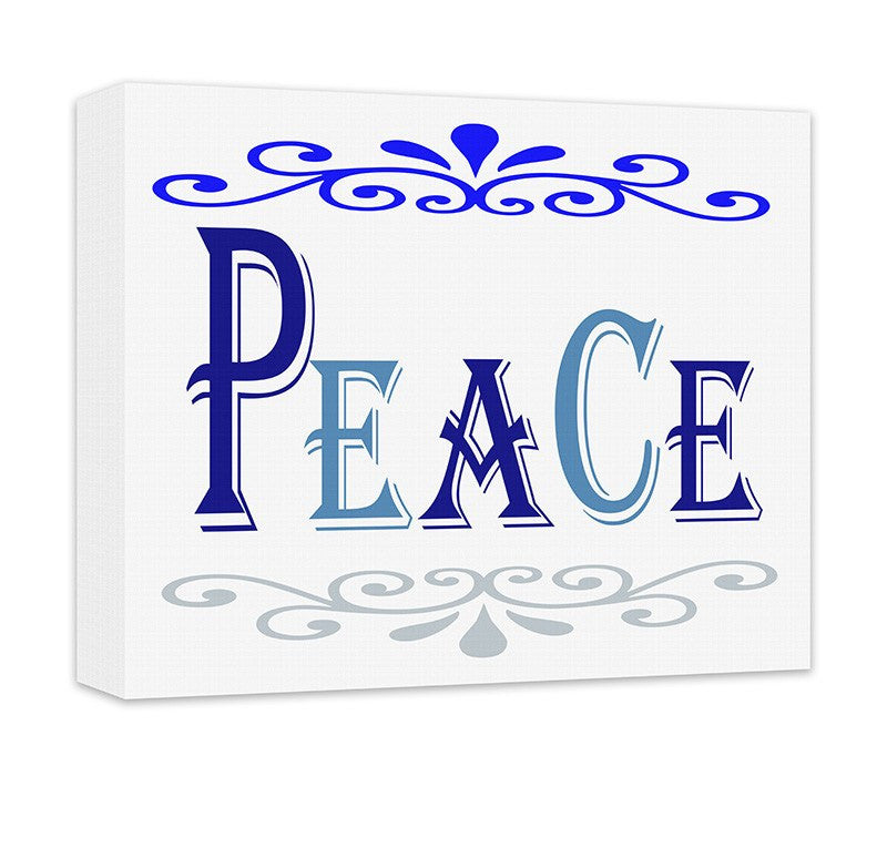 Peace II Canvas Wall Art - WallLillies