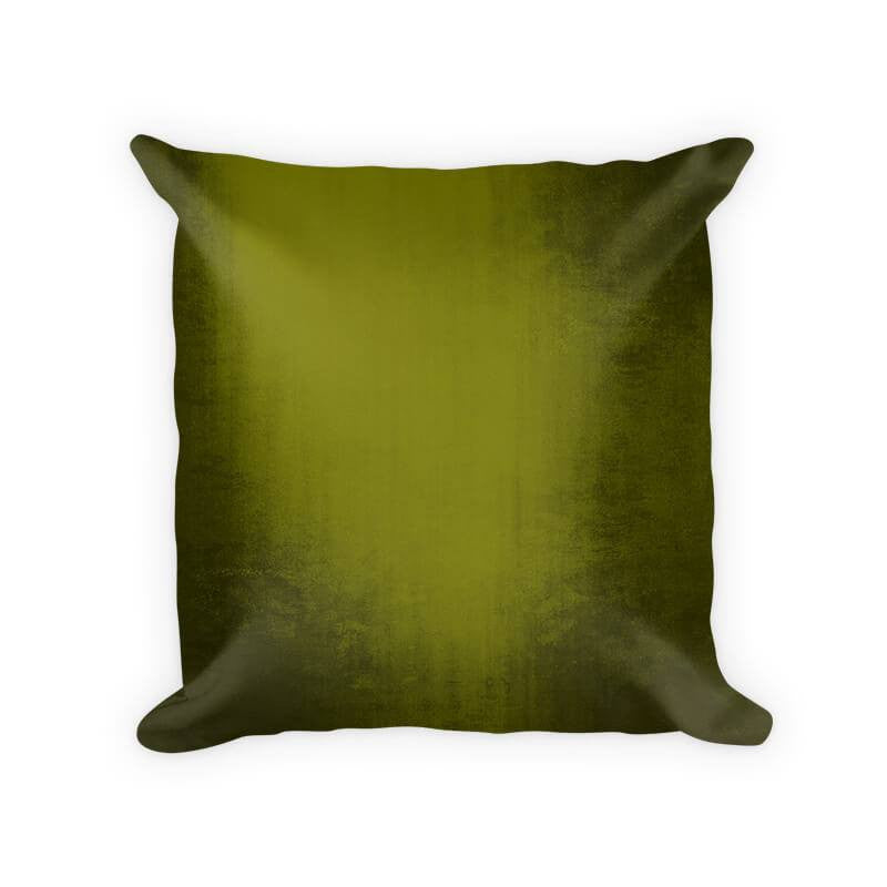 Olive Grunge Cotton Poly Throw Pillow
