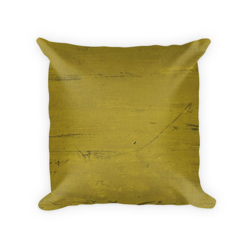 Olive Scratched Marble Woven Cotton Throw Pillow