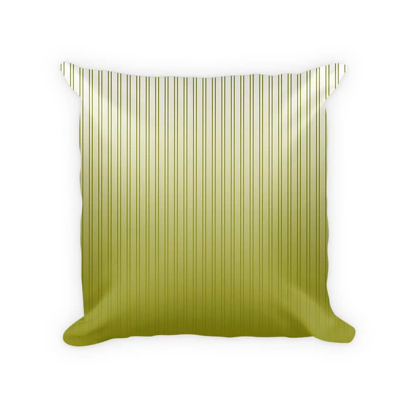 Olive Striped Gradient Woven Cotton Throw Pillow