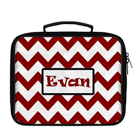Chevron Large Scale Pattern Personalized Lunch Box - WallLillies