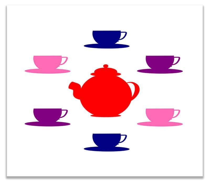 Tea Set Children's Print Wall Art