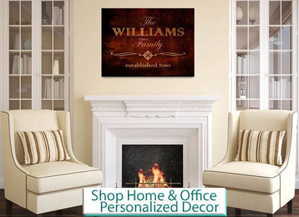 home and officer personalized wall art and decor
