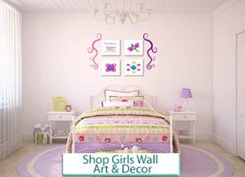 girls wall art and decor