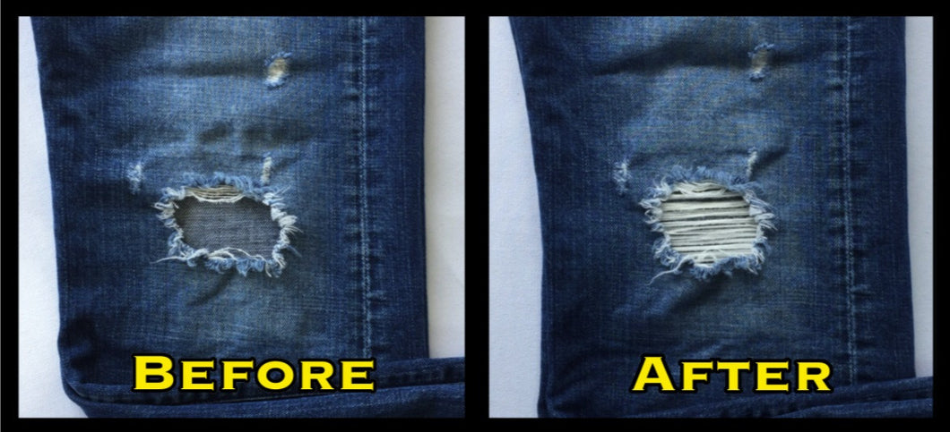 distressed jean patch