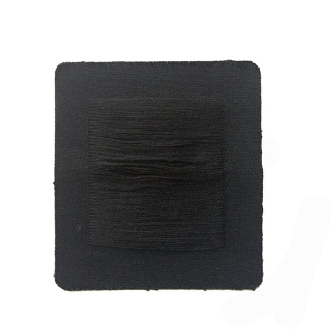 Black Distressed Jean Patch