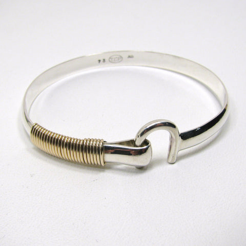 St Croix Hook Bracelet, Sterling Silver 6 mm & 14K Gold Fill Wire