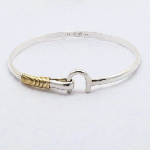 St Croix Hook Bracelet 4 mm, Sterling Silver & 14K Gold Fill Wire