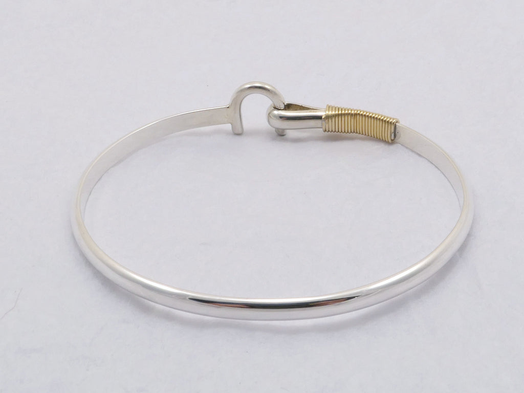 St Croix Hook Bracelet 4 mm, Sterling Silver & 14K Gold Fill Wire ...