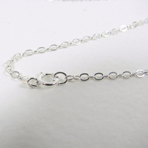 "18"" 1.9mm Sterling Silver Flat Cable Chain"