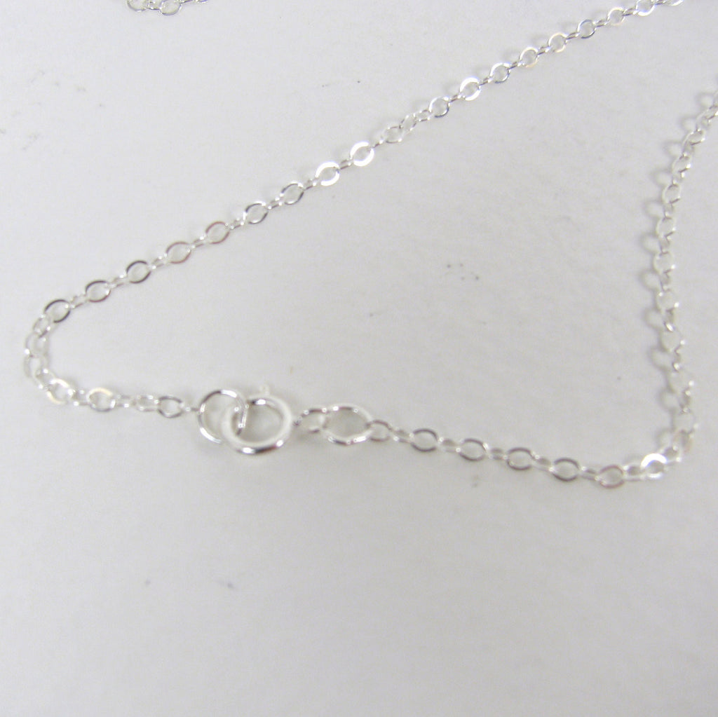 "16"" 1.5mm Sterling Silver Flat Cable Chain"