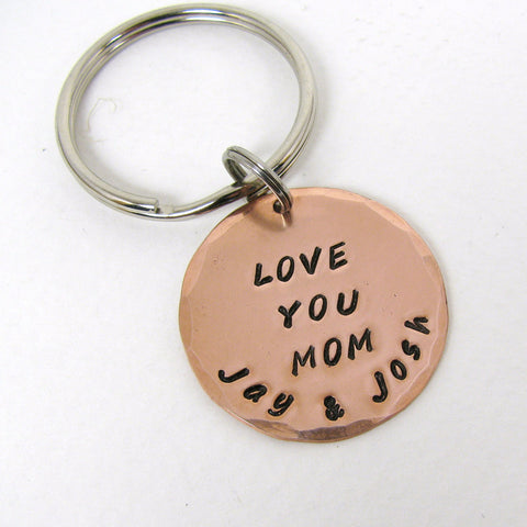 Personalized Copper Key Ring