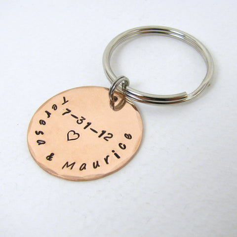 Customized Copper Key Ring