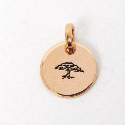 "1/2"" Copper Necklace Charm"