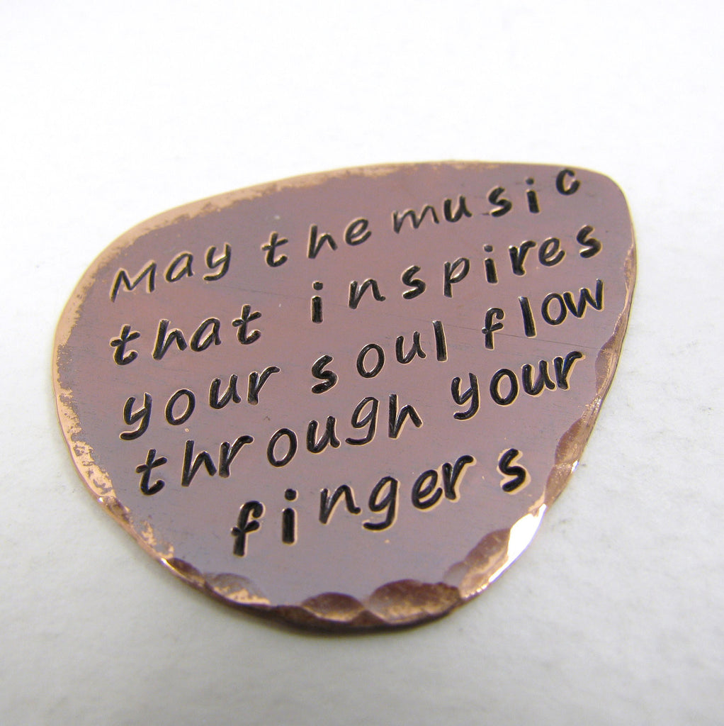 Personalized Copper Guitar Pick
