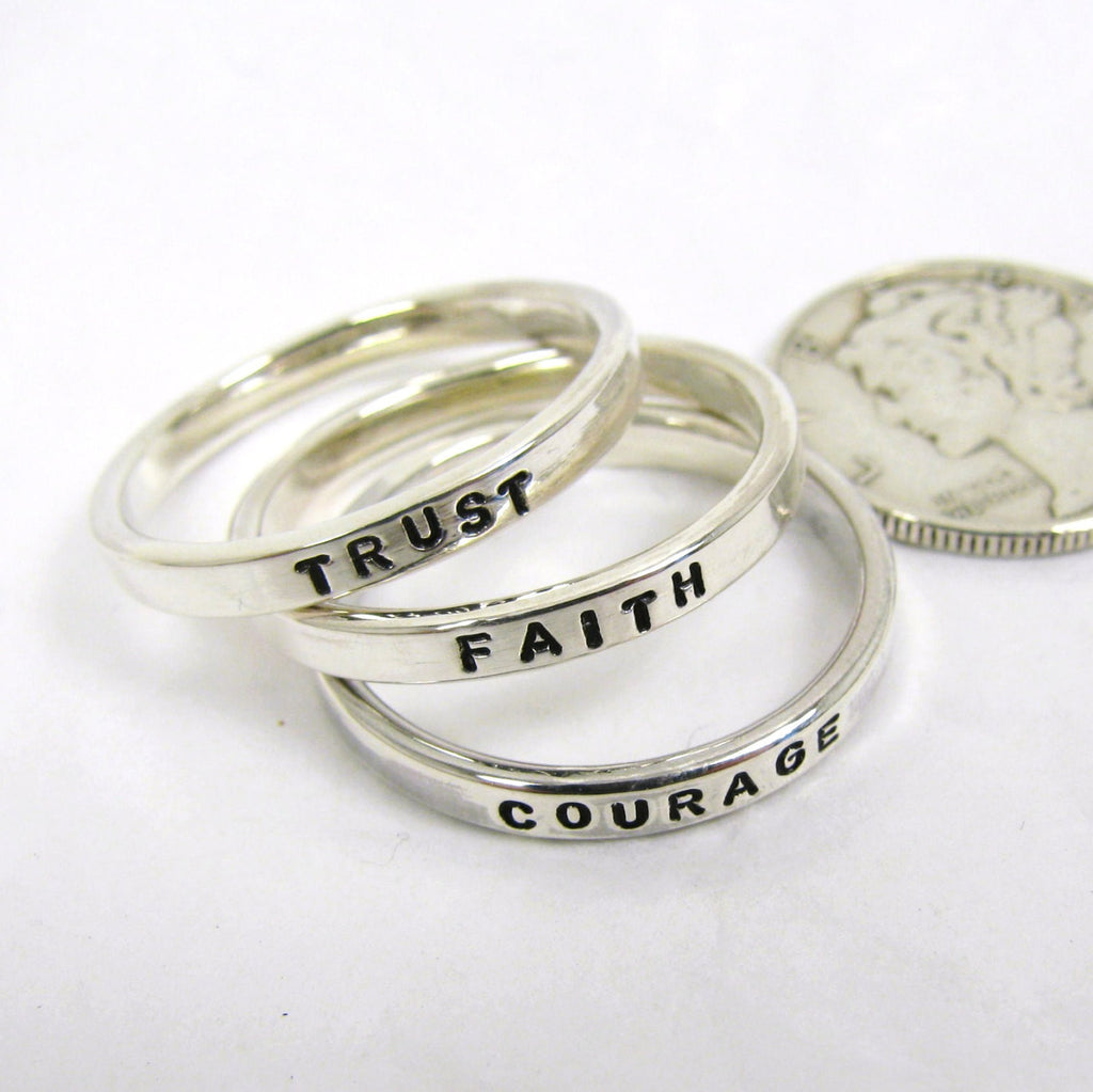 Promise ring Personalized Sterling Silver Name Ring