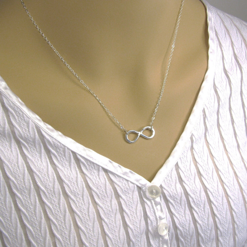 Sterling Silver Infinity Necklace,  Silver Eternity Necklace, Silver Necklace, Infinity Symbol, Anniversary Necklace, Eternal Love Necklace