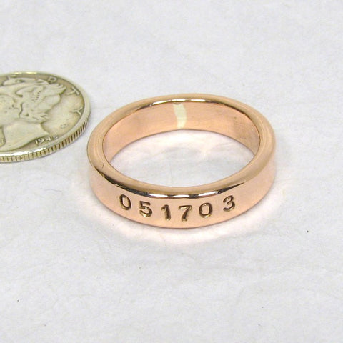 Copper Ring 4.5mm (1), Copper Promise Ring, Polished Copper Ring, Personalized Copper Ring, Marathon, Copper Promise Ring, Wide copper ring