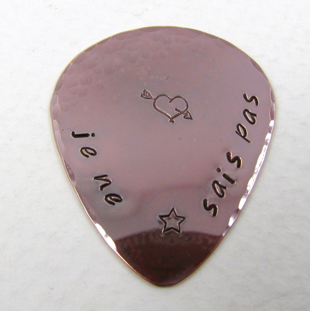 Personalized Copper Guitar Pick The Copper Phoenix