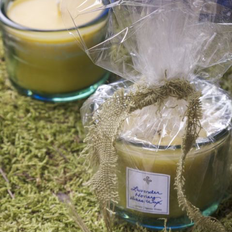 Lavender Honey Bees Wax Candle