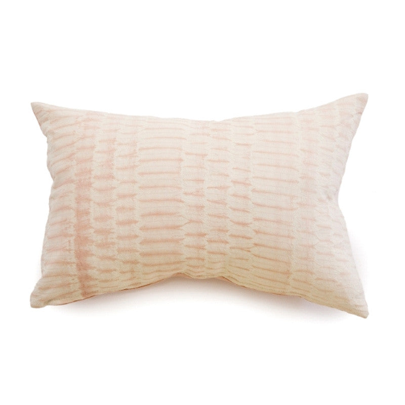 Blush Shibori Pillow - Rectangle