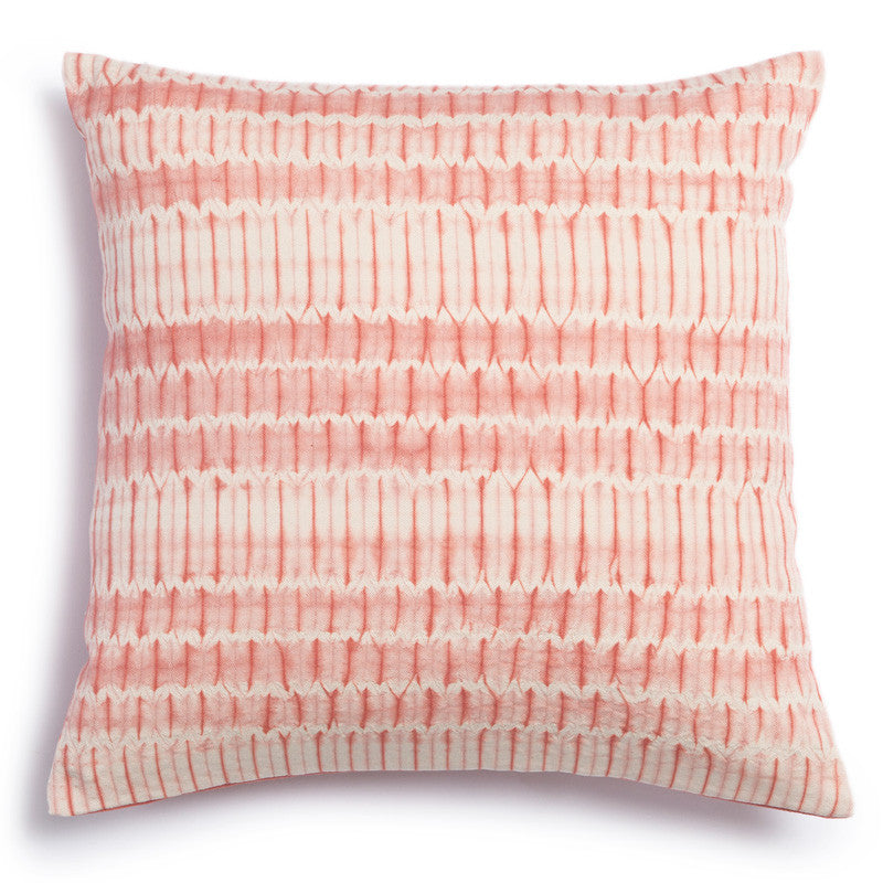 Coral Shibori Pillow