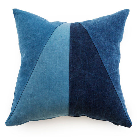 Indigo Color Block Pillow
