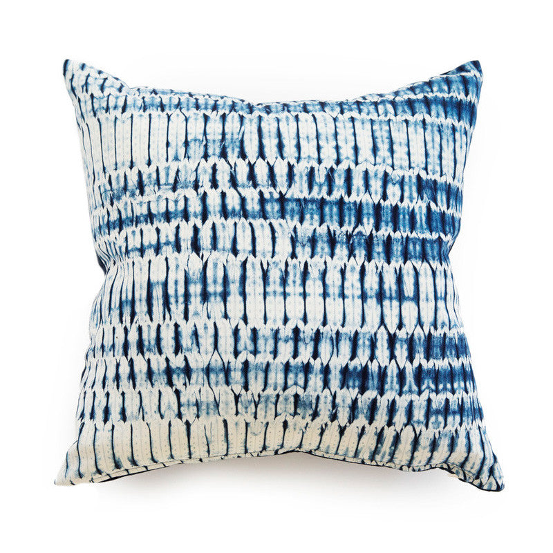Natural Indigo Shibori Pillow