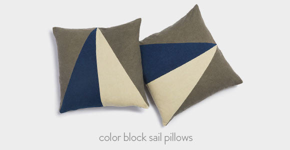 Color Block Sail Pillows