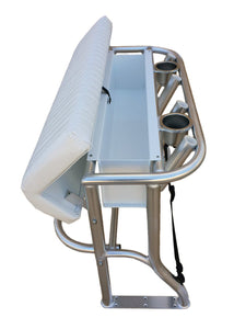INSHORE SERIES CONVERTIBLE BACKREST & TWO STAINLESS CUP HOLDERS LEANING POST