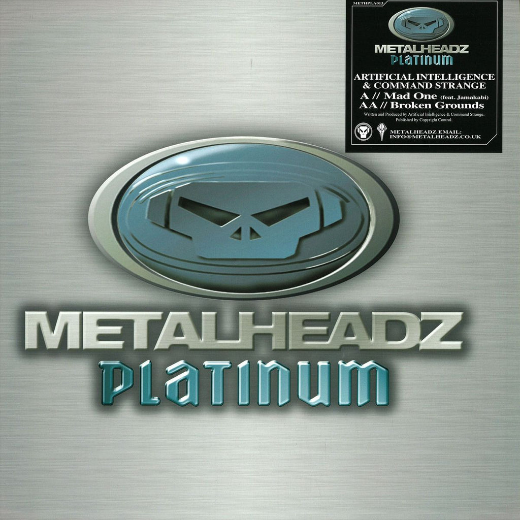 "Artificial Intelligence, Command Strange - Mad One / Broken Grounds 12"" METHPLA013 Metalheadz Platinum"