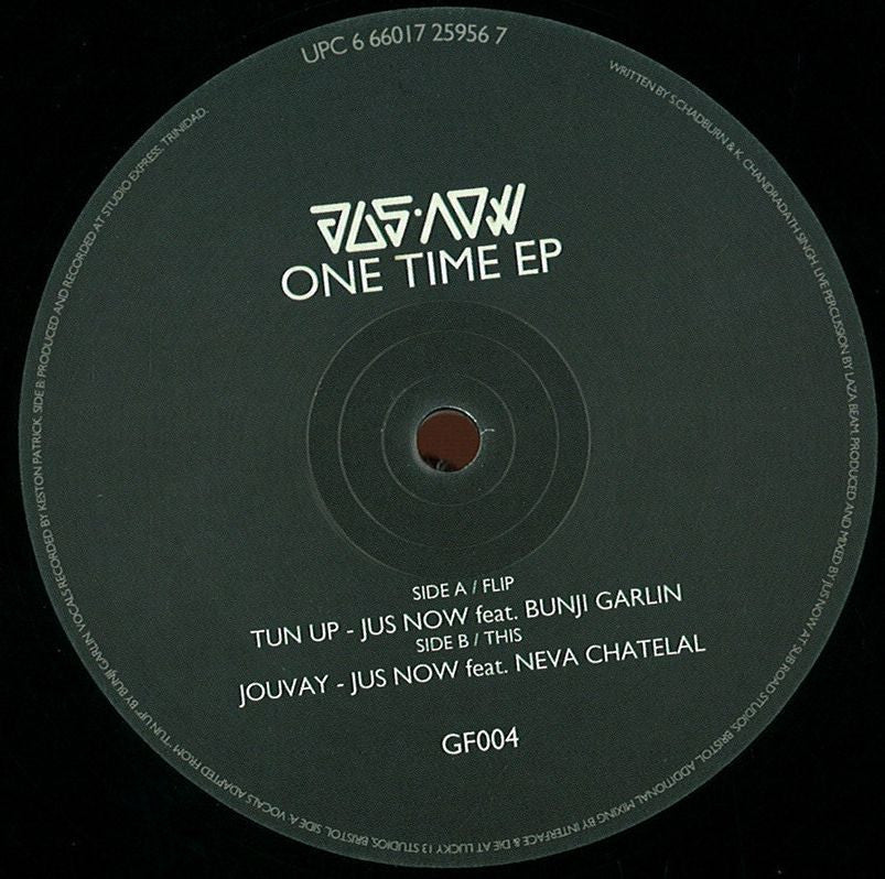 "Jus Now - One Time 2x12"" GF004 Gutterfunk"