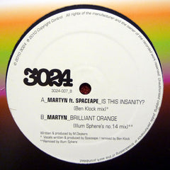 "Martyn, Spaceape ‎– Is This Insanity? / Brilliant Orange 12"" 3024007 3024"