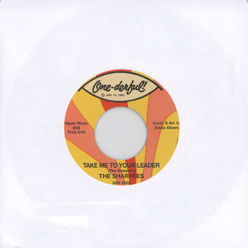 "The Sharpees - Take Me To Your Leader 7"" SSR2003 Secret Stash Records"