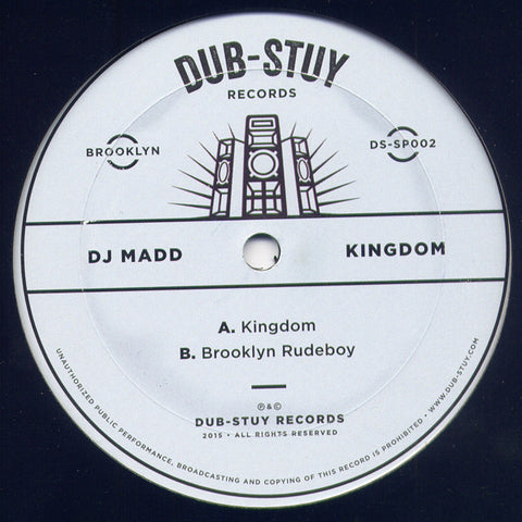 "DJ Madd ‎– Kingdom 12"" Dub-Stuy Records ‎– DS-SP002"