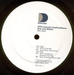 "ATFC Presents OnePhatDeeva Feat. Lisa Millett - Bad Habit 2x12"" Defected DFECT19X"