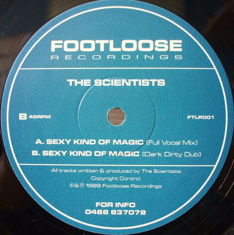 "The Scientists - Sexy Kind Of Magic 12"" Footloose Recordings ‎– FTLR001"
