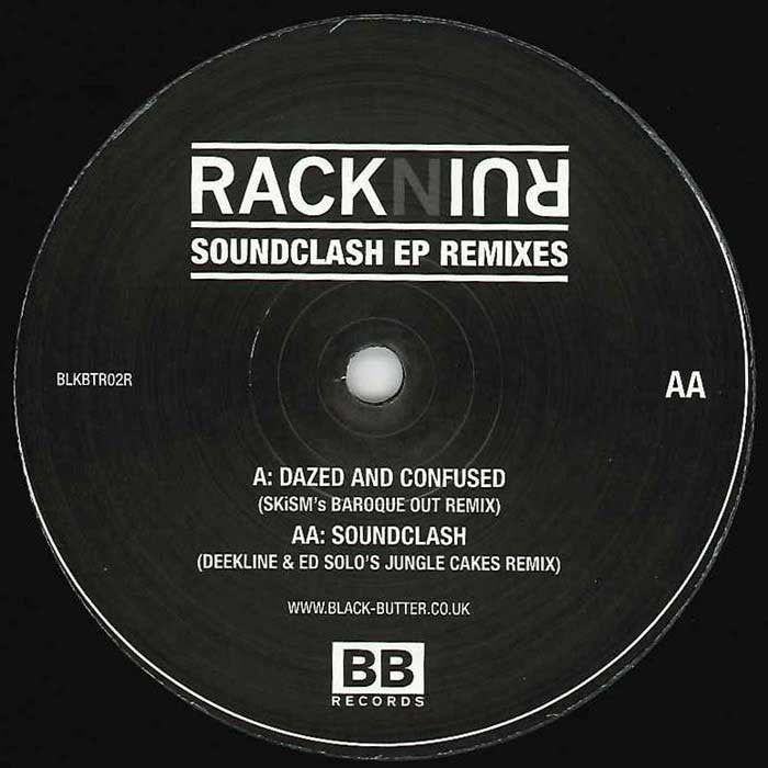 "Rack N Ruin - Soundclash EP Remixes 12"" Black Butter Records BLKBTR02R"