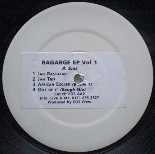 "EOS Crew ‎– Ragarge EP Vol 1 12"" PROMO Element Of Sound Records ‎– EOS AA2"