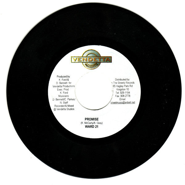 "Ward 21 - Promise / Cool Fusion 7"" Vendetta Records"