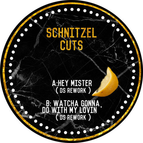 "DS - Hey Mister / Watcha Gonna Do With My Lovin 12"" Schnitzel Cuts ‎– SNZL003"