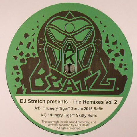 "DJ Stretch Presents - The Remixes Vol 2 12"" Ako Beatz ‎– AKO 003 REPRESS"