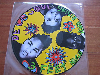 "De La Soul - 3 Feet High And Rising 12"" PICTURE DISC Tommy Boy TBVL 1019"