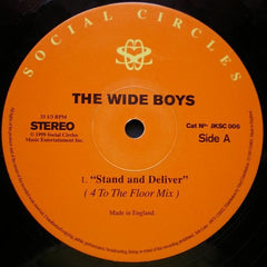 "The Wide Boys - Stand And Deliver 12"" Social Circles JKSC 006"
