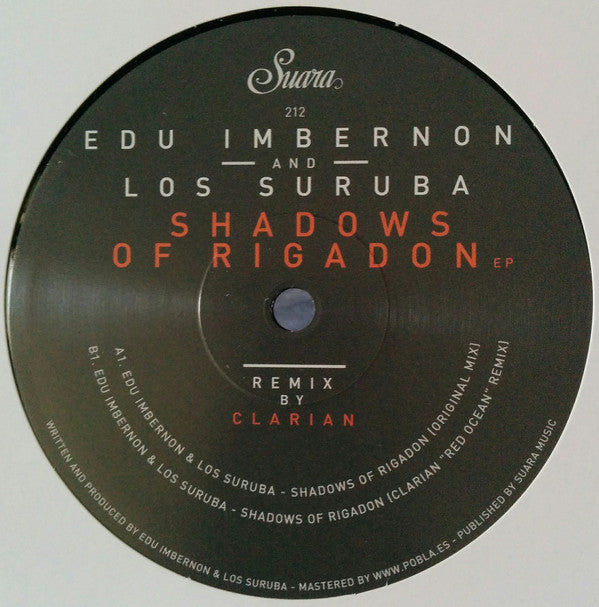 Edu Imbernon And Los Suruba ‎– Shadows Of Rigadon EP - Suara ‎– SUARA212