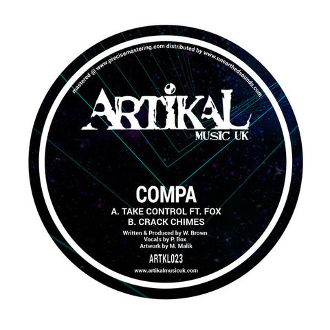 "Compa ‎– Take Control / Crack Chimes 12"" Artikal Music UK ‎– ARTKL023"