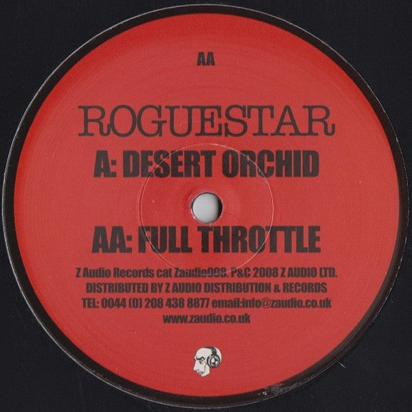 "Roguestar - Desert Orchid / Full Throttle 12"" Z Audio Zaudio008"