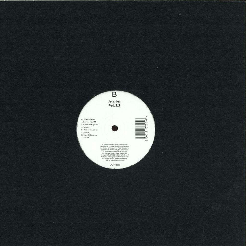 "Various ‎– A-Sides Vol. 3.3 12"" Drumcode ‎– DC142.3"