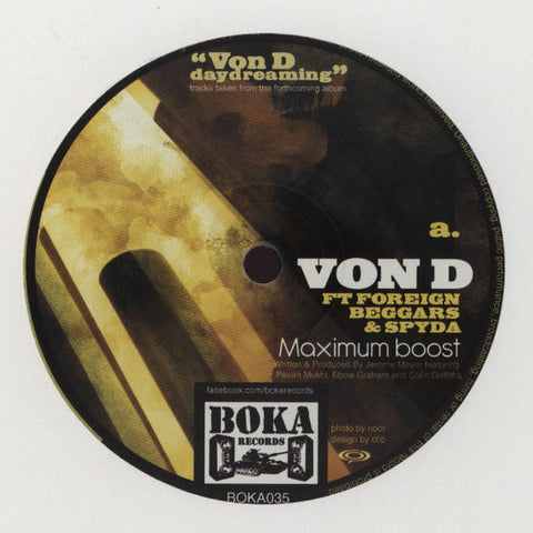 "Von D ‎– Daydreaming 12"" Boka Records ‎– BOKA035"